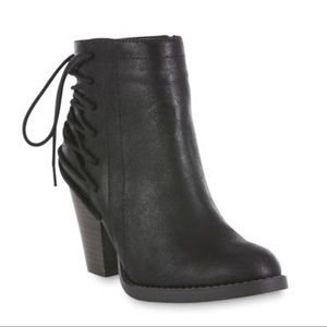 SM New York Shoes - Boho Chic💕Black Microsuede Emmy Wedge Bootie